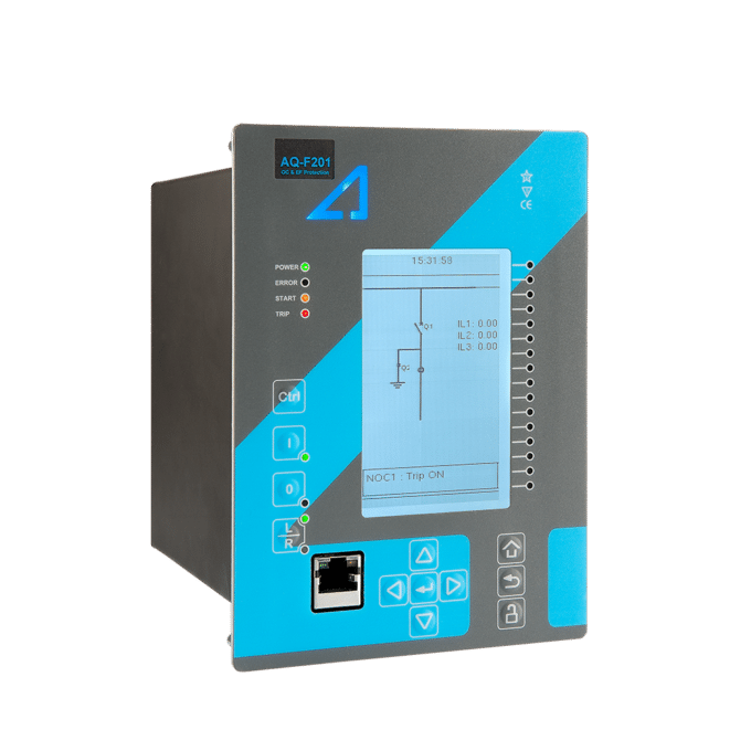AQ-F201 Overcurrent and earth-fault relay